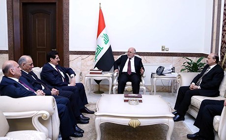 Kurdistan Region delegation in a meeting with Iraqi Prime Minister Haider al-Abadi. Photo: Iraqi presidency