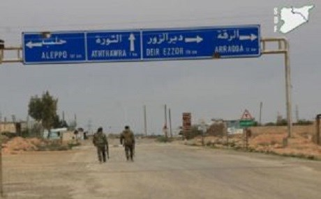 The SDF have reached the highway linking Raqqa with the capital Damascus. Photo: SDF