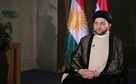 Ammar al-Hakim, the head of the Shiite National Alliance. He has been working on a document called the National Settlement or Reconciliation for more than a year, aimed at restructuring Iraq after the defeat of ISIS. Photo:Rudaw