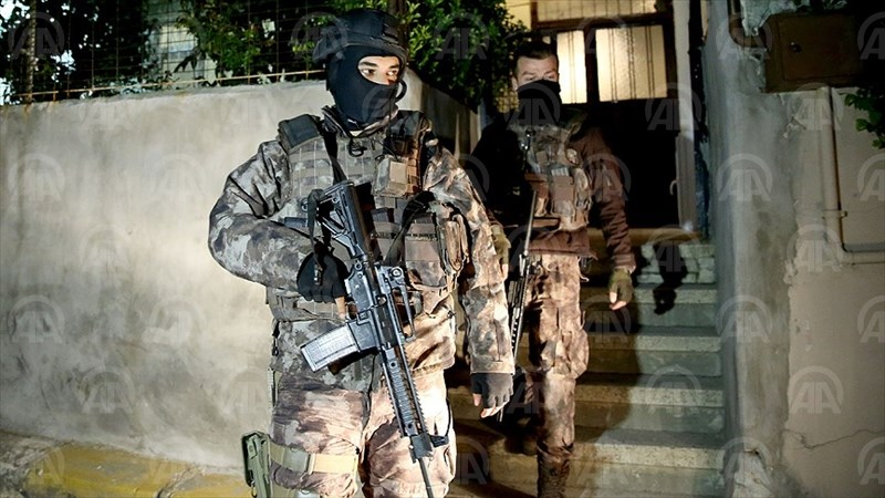 Turkish security forces raid a suspected PKK dwelling in Istanbul in April. Photo: AA