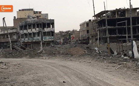Widespread destruction in western Mosul last month. Photo: Rudaw