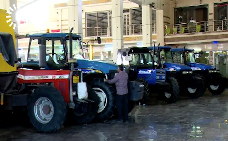 The prices of new tractors range between $14,000 and $40,000 depending on their quality. Photo: Rudaw video
