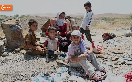 In summer of 2014, the ISIS group swept across northern Iraq leaving millions displaced and thousands killed, like this family in Shingal. Photo: Rudaw