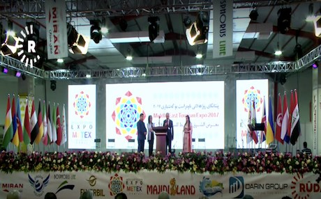The Middle East Tourism Exhibition was attended by 200 tourism companies and agencies from the Kurdistan Region, Iraq and 16 foreign countries. Photo: Rudaw video