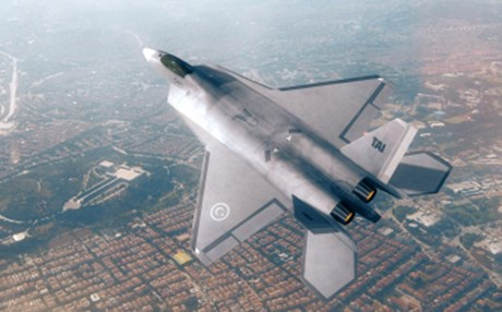 An artist's rendering of its planned fifth-generation TF-X fighter jet. Photo: TAI