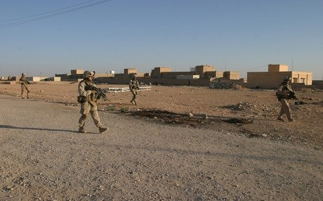 US Marines patrol near al-Waleed in Iraq in 2017. Photo: US DoD