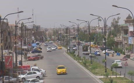 An overview of a street of Kirkuk. Photo: Rudaw video