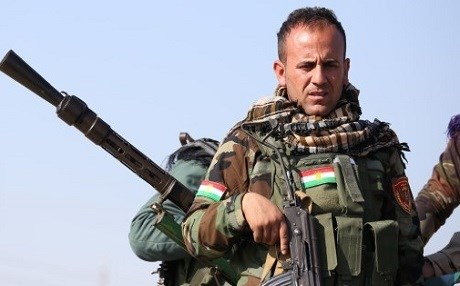 A Kurdish Peshmerga guarding against the ISIS group in Makhmur, near Erbil. Rudaw file photo