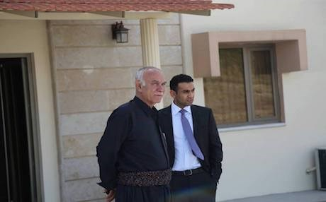 Chia Nawshirwan Mustafa (R) with the late Nawshirwan Mustafa, leader of the Change Movement (Gorran). Photo courtesy of Chia
