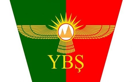 Flag of the Shingal Protections Units (YBS). Photo: Anha news agency.