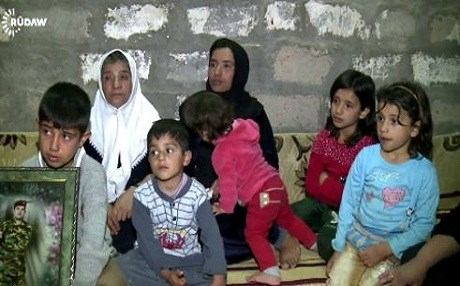 The family of a Kurdish Peshmerga soldier killed in the fight against ISIS. Rudaw file photo