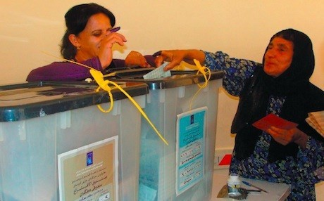 A Kurdish woman casting her ballot in Kurdistan Region's parliamentary elections in 2013. Rudaw photo