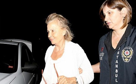Nazli Ilıcak is detained by Turkish security officials in April. Photo: AA