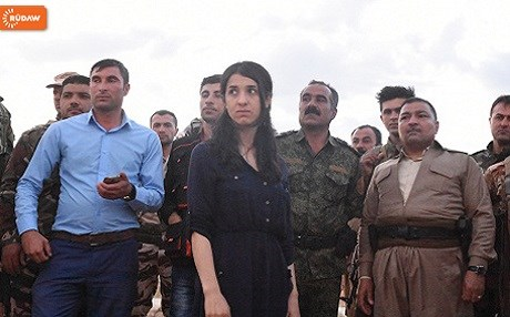 ISIS survivor and UN Goodwill Ambassador Nadia Murad returned to home village of Kocho earlier this month. Photo: Chris Johannes/Rudaw