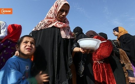 Mosul IDPs at a displacement camp in the Kurdistan Region. Photo: Rudaw