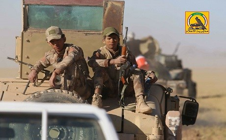 Hashd al-Shaabi forces have an estimated 100, 000 fighters, mainly active south and west of Mosul, near the Syrian border. Photo: Hashd media office