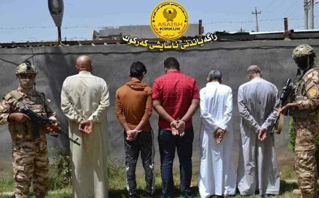 Kirkuk Asayesh, security forces, arrested five ISIS suspects. Photo: Kirkuk Asayesh