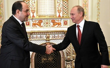 The then Iraqi Prime Minister Nouri al-Maliki [L] meets with Russian President Vladimir Putin in Moscow in October, 2012. Maliki negotiated an arms deal that was then put on hold amid a corruption and bribery scandal. Photo: Kremlin