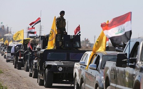 Iraqi paramilitary units mobilize in Nineveh Province, northern Iraq. Photo: AP