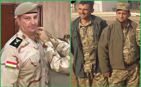 Kurdistan's Deputy Prime Minister Qubad Talabani shared photos of the three Peshmerga killed by an IED bomb south of Kirkuk on August 3, 2017. He hailed their sacrifices, calling them 'martyrs' who died for the freedom of Kurdistan. Photo: Talabani's Facebook page