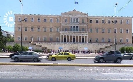 The Old Royal Palace in Athens is home to the Hellenic Parliament. Photo: Rudaw TV