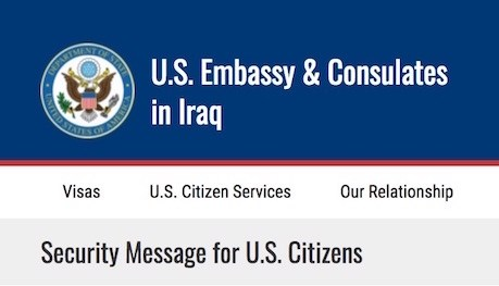 US warns its officials, citizens in Iraq of kidnapping attempts