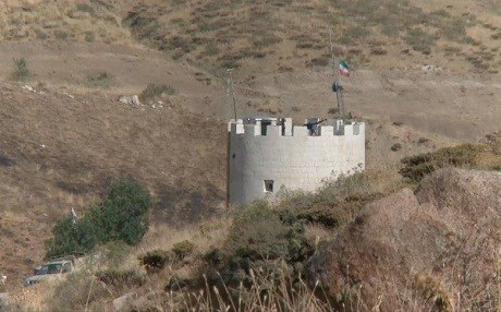 An Iranian military outpost on the border with the Kurdistan Region. Photo: Rudaw TV