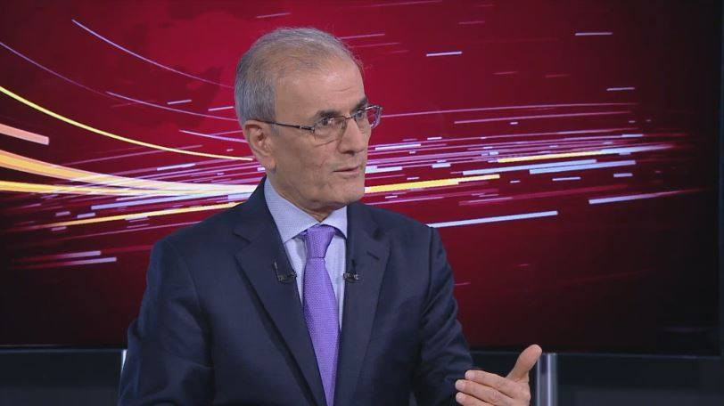 Kirkuk Governor Najmaldin Karim speaks to Rudaw TV on August 16, 2017 in Erbil. Photo: Rudaw TV
