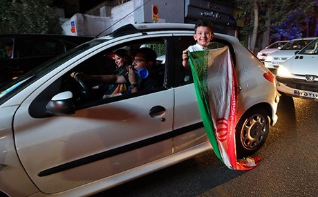 Iranians celebrated when the nuclear deal was struck in 2015. Photo: Atta Kenare/AFP