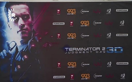 Terminator 2: Judgment Day 3D was premiered at Empire Cinemas in Erbil.