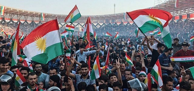 President Masoud Barzani attended a rally in support of the Kurdish independence referendum  in Zakho, near Duhok on September 14, 2017. It is the the third city outside of Erbil where the president campaigns for the Kurdish vote set for September 25. Photo: Rudaw/Aram Sabah
