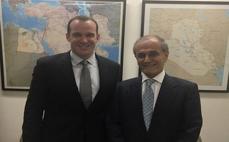 File photo: US Special Presidential Envoy to the Global anti-ISIS Coalition Brett McGurk [L] and Kirkuk Governor Nakmaldin Karim pose for a picture in Washington DC in 2016. Photo: pukpb.org