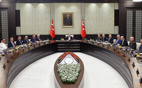 Turkish President Recep Tayyip Erdogan chaired a meeting of Turkey's National Security Council on Friday. Photo: Official