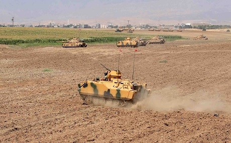 Turkey conducts troop movements in the Silopi area of southeastern Turkey near the Kurdistan Region's border. Photo: AA