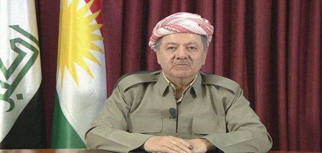 President Masoud Barzani addressing the nation on Tuesday evening. Photo: Rudaw TV