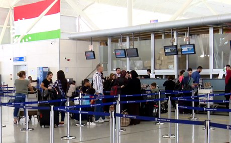 Passengers check in for flights at Erbil International Airport on Wednesday. Photo: Rudaw video