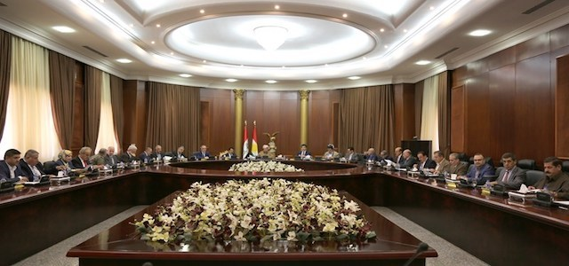 The Political Leadership of Kurdistan - Iraq meeting in Erbil headed by President of the Kurdistan Region Masoud Barzani on October 1, 2017. Photo: KRP