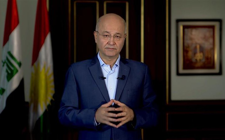 Barham Salih, founder of the Coalition for Democracy and Justice, addressing the Kurdistan Region in a televised speech on Monday.