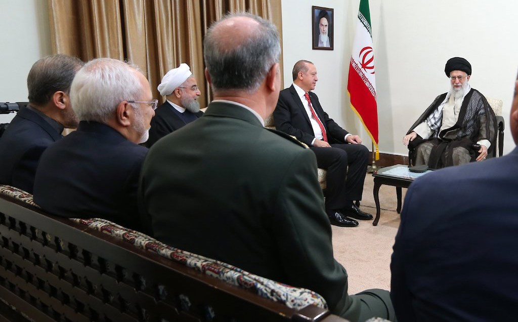 Ayatollah Khamenei met with Turkish President Recep Tayyip Erdogan in Tehran on Wednesday. Photo: Official