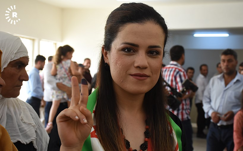 A young woman who voted in Kurdistan's independence referendum on September 25. Photo: Hejar Jawhar/Rudaw