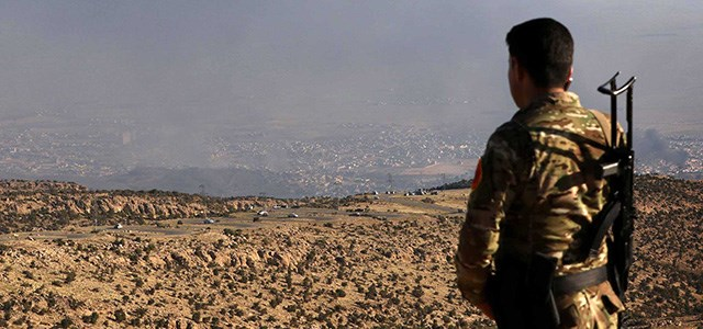 The Kurdish Peshmerga liberated the Yezidi town of Shingal in late 2015 from the ISIS militants who took it in 2014. File photo: Getty Images