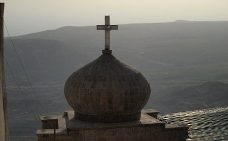 The Christian Mar Mattai monastry overlooking the Nineveh plain. Photo by Judit Neurink
