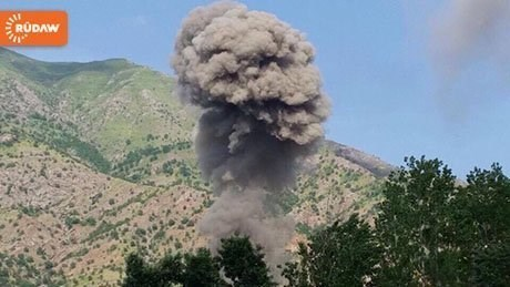 A village is bombed on the outskirts of Mount Qandil. Photo: File
