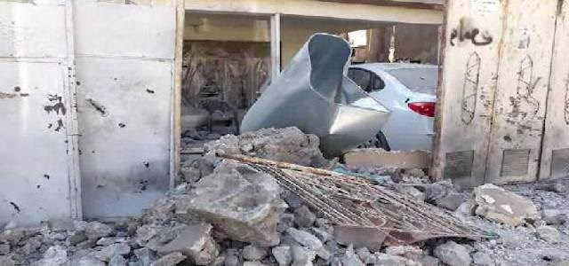 Aftermath of Tuesday's bomb shelling on the city of Tuz Khurmatu which caused casualties among Hashd al-Shaabi militants. Photo: DHA