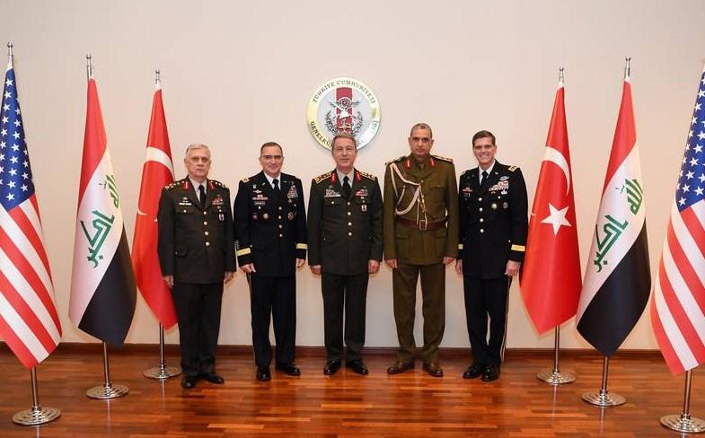 Turkey hosted a high-level trilateral military meeting with Iraqi and American top brass. Photo: Turkish Armed Forces
