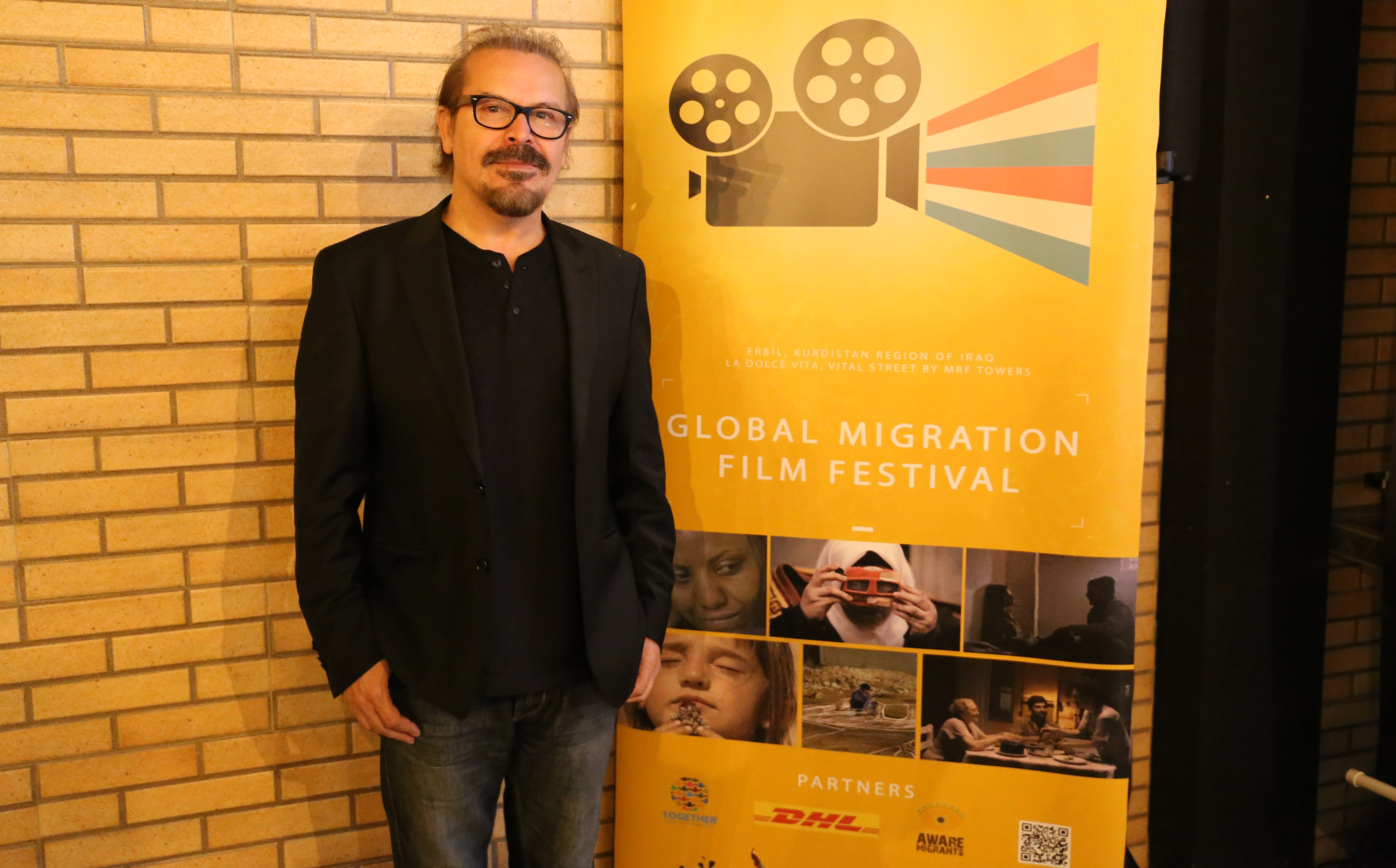 Jano Rosebiani is hosting the Global Migration Film Festival in Erbil. Photo: Mohammad Abbas