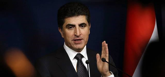 Kurdish Prime Minister Nechirvan Barzani speaks at a conference in November, 2017 in Erbil. File photo: AFP/Safin Hamed