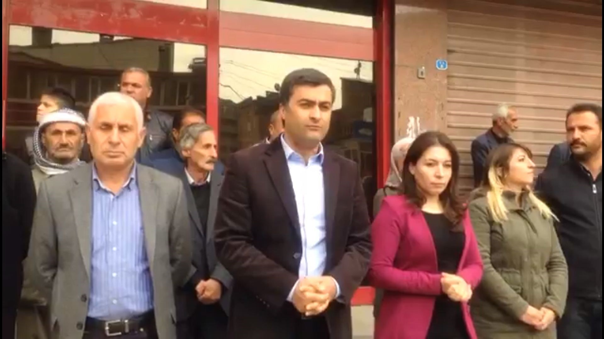 HDP MP Abdullah Zeydan (centre) was sentenced to over 8 years in jail on terror charges on Thursday. Photo: Abdullah Zeydan/Twitter