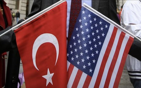 The flags of the Republic of Turkey and the United States of America. Photo: AA