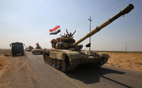 Iraqi forces in Kirkuk province in October. File photo: AFP